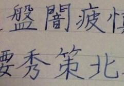 ノートを撮影した画像:ノートに上達した成果が表れた文字が青いインクの万年筆によって書かれている